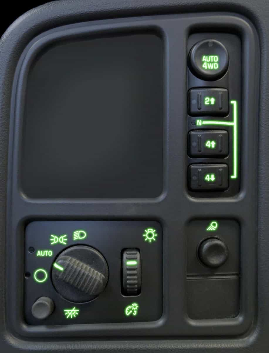 Left Dash Switches Kit