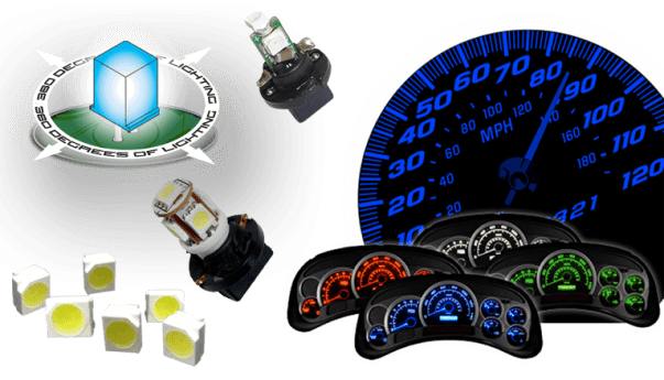 LED Instrument Panel Lights, LED Gauge Lights, LED Gauge, LED Cluster Repair