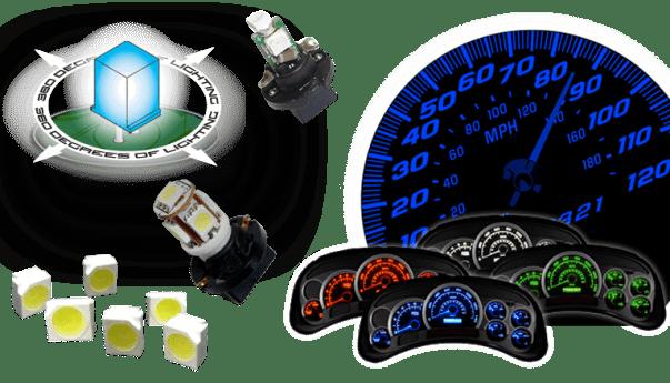 LED Instrument Panel Lights, LED Gauge Lights, LED Gauge, LED Cluster Repair