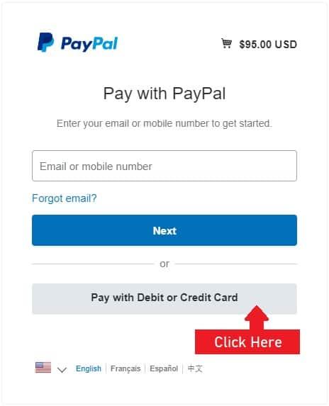 PayPal Step 1