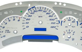 SSGM01B US Speedo SSGM01B gauge face for 2003, 2004, 2005 GM Trucks and SUVs.